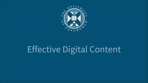 Thumbnail for entry Reviewing and revising your content - Effective Digital Content