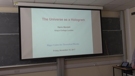 Thumbnail for entry Dario Martelli (King's College London) - The Universe as a hologram. Higgs Centre Colloquium