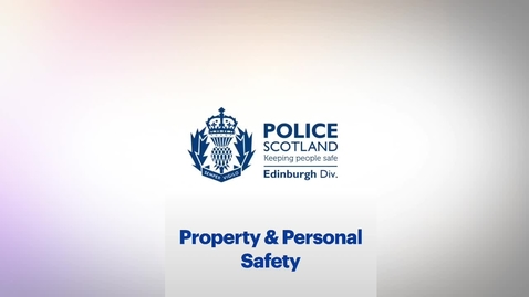 Thumbnail for entry Student Safety - Property & Personal Safety