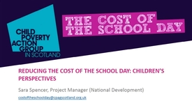 Thumbnail for entry Reducing the cost of the school day - children's perspectives