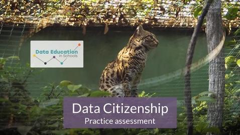 Thumbnail for entry Data Citizenship Level 4-5 Zoo activity Part 5