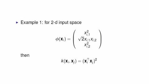 Thumbnail for entry Kernels for SVMs