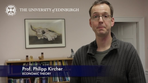 Thumbnail for entry Philipp Kircher - Economic Theory-Research In A Nutshell-School of Economics-04/02/2013