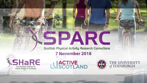 Thumbnail for entry SPARC Conference 2018  | Dr Audrey Duncan - The impact of a step count intervention project on physical activity levels and self-reported general health in University student nurses