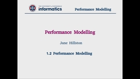 Thumbnail for entry 1.2 Performance Modelling
