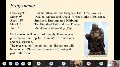 Thumbnail for entry Introduction to Key Concepts 3: Samsara, Kamma and Nibbana