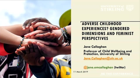 Thumbnail for entry Adverse Childhood Experience? Gendered Dimensions and Feminist Perspectives