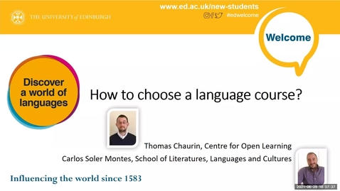Thumbnail for entry (UG and PG) How-to Choose a Language Course 2021-2022