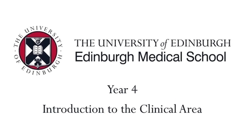 Thumbnail for entry Year 4 Introduction to the clinical area