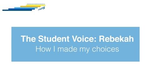 Thumbnail for entry LEAPS - The Student Voice: Rebekah
