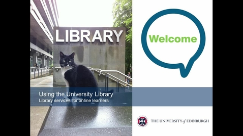 Thumbnail for entry Introduction to the Library for online students