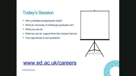 Thumbnail for entry Careers Service support for postgraduates