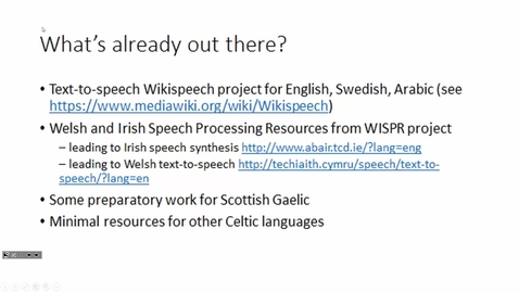 Thumbnail for entry Welsh/Celtic speech technology in Wikipedia - Delyth Prys and Dewi Jones at Celtic Knot 2017