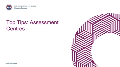 Thumbnail for entry Top Tips: Assessment Centres