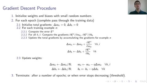 Thumbnail for entry MLP Lecture 01 - Clip 07 - Gradient Descent