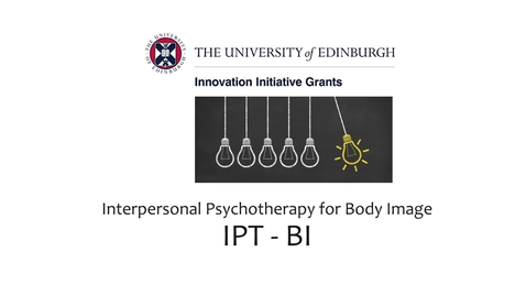 Thumbnail for entry Interpersonal Psychotherapy for Body Image- Meet the Professionals
