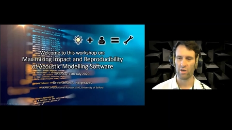 Thumbnail for entry Maximizing Impact and Reproducibility of Acoustic Modelling Software Workshop Session 1