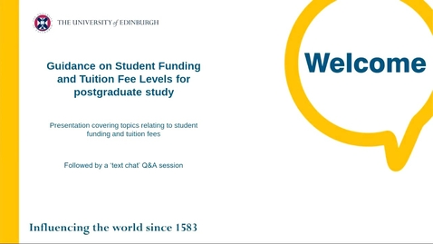 Thumbnail for entry PG How to get guidance on student funding and fee levels