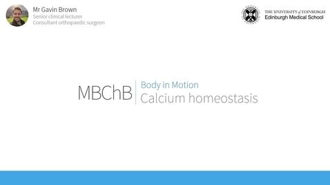 Thumbnail for entry Calcium homeostasis