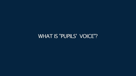 Thumbnail for entry Pupil Voice at Dalkeith High School