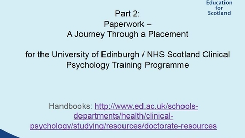 Thumbnail for entry Clinical Psychology Supervisor Training Part 2 - Paperwork