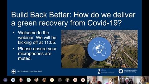 Thumbnail for entry Build Back better Webinar - August 2020