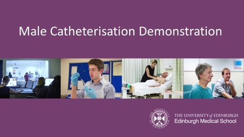 Thumbnail for entry Male Catheterisation demo