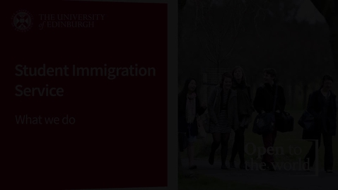 Thumbnail for entry Student Immigration Service - What We Do