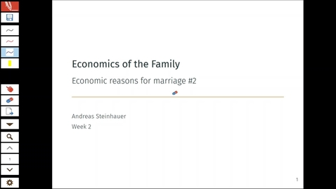 Thumbnail for entry Economics of the Family 2.1 - Economic Reasons for Marriage 2