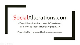 Thumbnail for entry Introduction to Social Alterations - An online education lab for responsible fashion (Media Hopper test-drive)