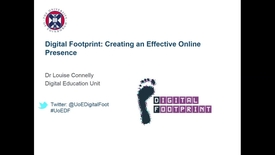 Thumbnail for entry Digital Footprint: Creating an Effective Online Presence