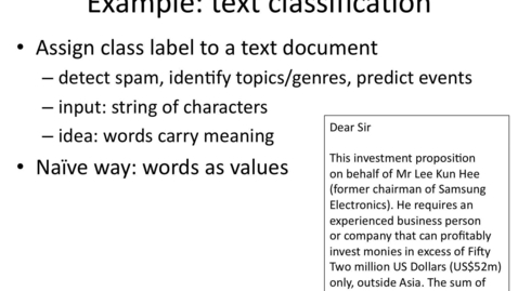 Thumbnail for entry Representing Text with Categorical Attributes