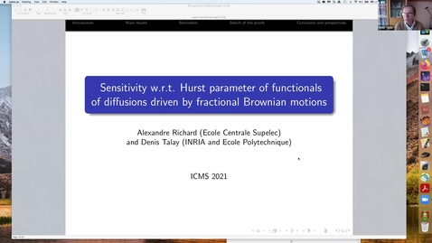 Thumbnail for entry One World Virtual Seminar Series - Stochastic Numerics and Inverse Problems: Denis Talay (Inria and Ecole Polytechnique)