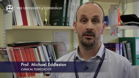 Thumbnail for entry Michael Eddleston - Clinical Toxicology - Research In A Nutshell - Queen's Medical Research Institute -21/05/2015