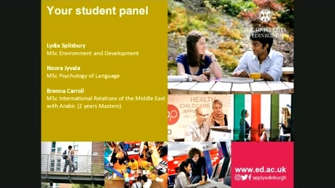 Thumbnail for entry Ask our students panel session - Postgraduate Taught