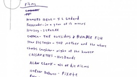 Thumbnail for entry EFP  3: On Making Film Lists