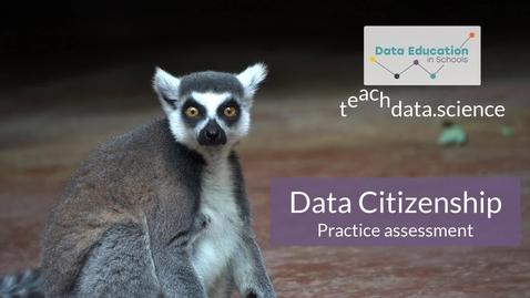 Thumbnail for entry Data Citizenship Level 4-5 Zoo activity Part 3b