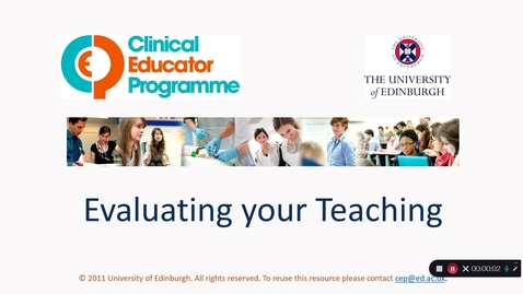 Thumbnail for entry Evaluating your Teaching