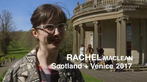 Thumbnail for entry Artist Rachel Maclean meets students ahead of Venice Biennale