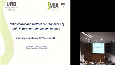 Thumbnail for entry Behaviour and welfare consequences
