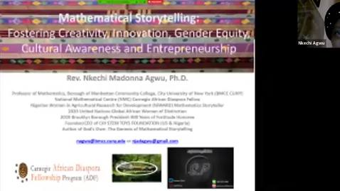 Thumbnail for entry Black Heroes of Mathematics Conference: Professor Nkechi Agwu (BMCC/CUNY)