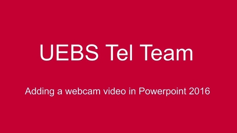 Thumbnail for entry Powerpoint 2016 - adding a talking head video