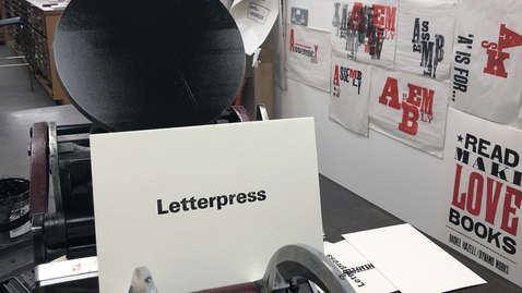 Thumbnail for entry Letterpress Printing at ECA (an introduction)