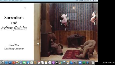 Thumbnail for entry History of Art Research Seminar 5 November 2020