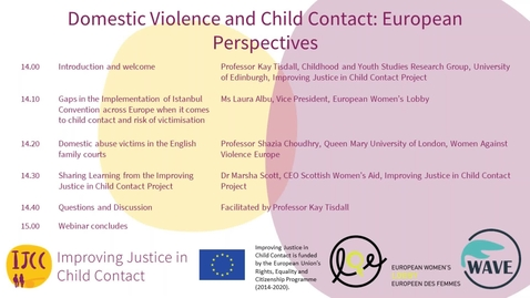 Thumbnail for entry Domestic Violence and Child Contact: European Perspectives