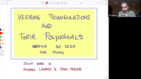 Thumbnail for entry Veering triangulations and their polynomials - Yair Minsky