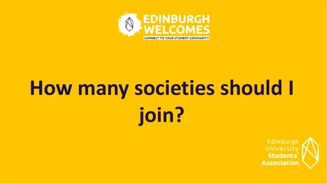 Thumbnail for entry How to join student societies