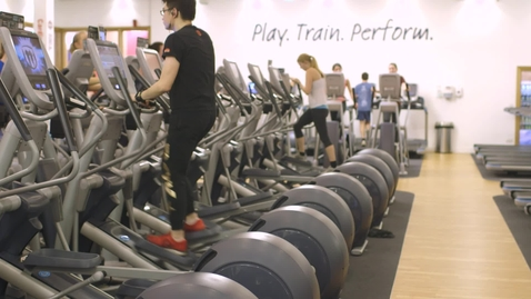Thumbnail for entry People on exercise machines