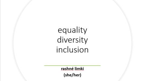 Thumbnail for entry EDI training for Staff - Part 1, Diversity