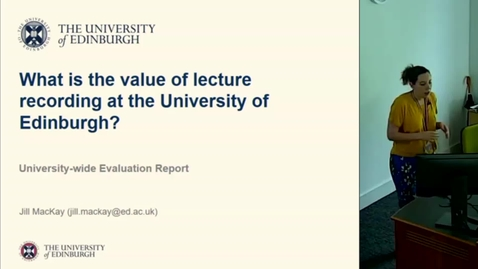 Thumbnail for entry Lecture Recording Evaluation (Sep 2018)